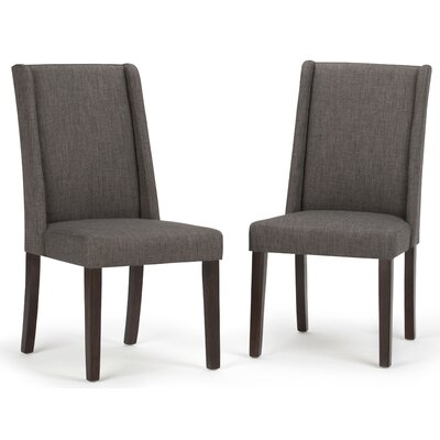 Sotherby Parson Chair Upholstery Type: Slate Gray Linen