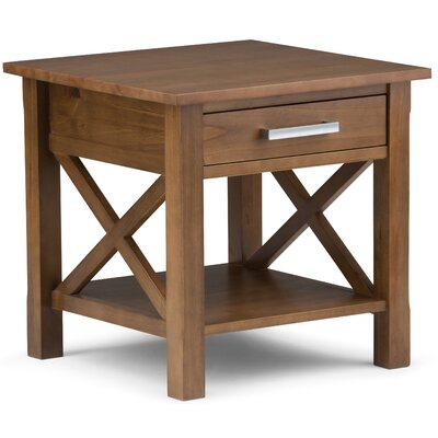 Kitchener End Table With Storage� Color: Medium Saddle Brown