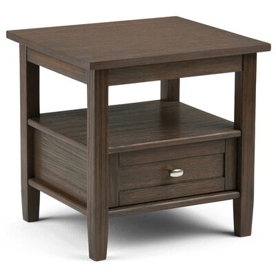 Bruno 1 Drawer End Table Finish: Farmhouse Brown