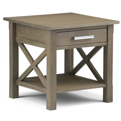 Kitchener End Table Finish: Farmhouse Gray