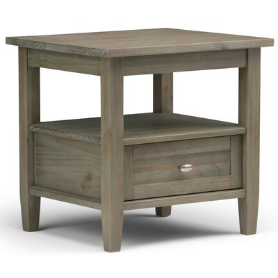 Bruno 1 Drawer End Table Finish: Gray