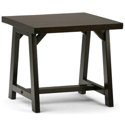 Sawhorse End Table Color: Dark Chestnut Brown