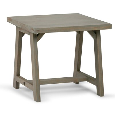 Sawhorse End Table Finish: Distressed Gray