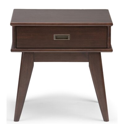 Draper End Table with Storage� Color: Auburn Brown