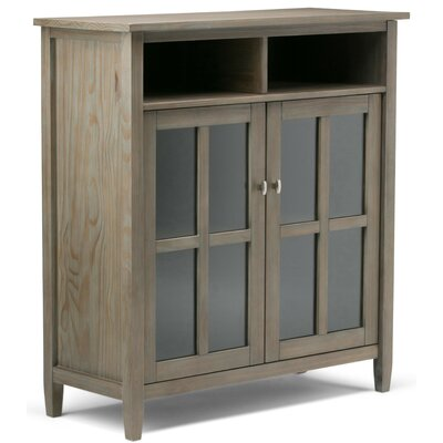 Warm Shaker Medium Storage Multimedia Cabinet Finish: Distressed Gray