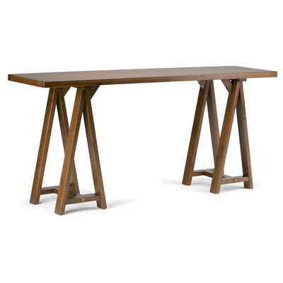 Sawhorse Console Table Finish: Saddle Brown