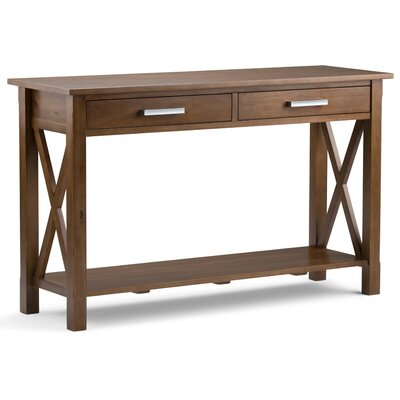 Kitchener Console Table Finish: Medium Saddle Brown