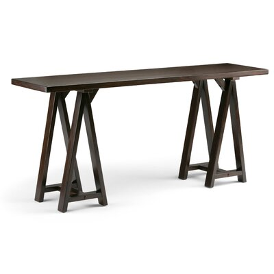 Sawhorse Console Table Finish: Dark Chestnut Brown