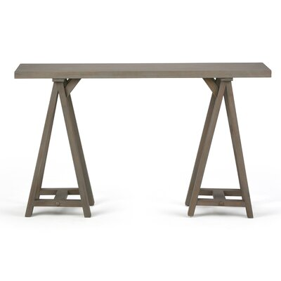 Sawhorse Console Table Finish: Distressed Gray