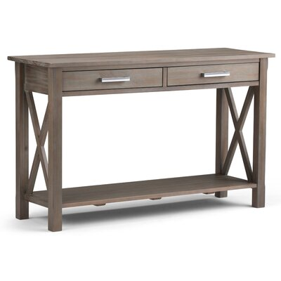 Kitchener Console Table Finish: Distressed Gray