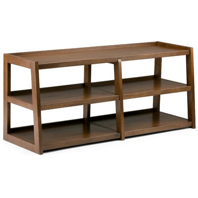 Sawhorse 60 TV Stand Color: Saddle Brown
