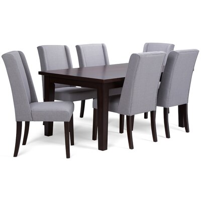Sotherby 7 Piece Dining Set Chair Color: Dove Gray