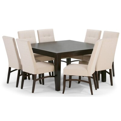 Ezra 9 Piece Dining Set Upholstery: Natural