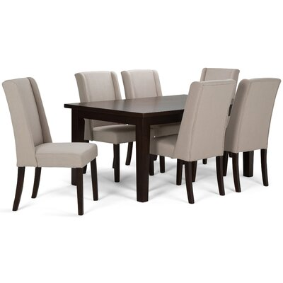 Sotherby 7 Piece Dining Set Upholstery: Natural