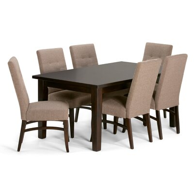 Ezra 7 Piece Dining Set Chair Color: Fawn Brown