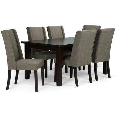 Sotherby 7 Piece Dining Set Upholstery: Light Mocha