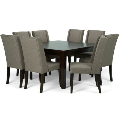 Sotherby 9 Piece Dining Set Chair Color: Light Mocha