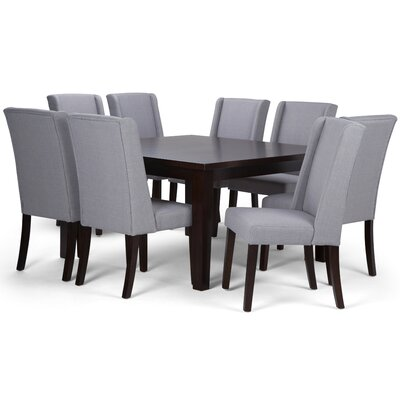 Sotherby 9 Piece Dining Set Chair Color: Dove Gray