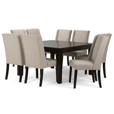 Sotherby 9 Piece Dining Set Upholstery: Natural