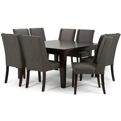 Sotherby 9 Piece Dining Set Upholstery: Slate Gray