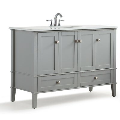 Chelsea 43 Single Bathroom Vanity Set Base Finish: Gray