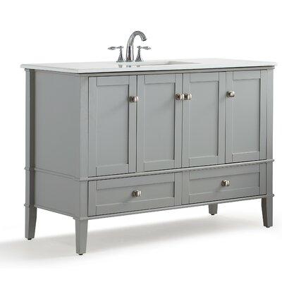 Chelsea 49 Single Bathroom Vanity with Quartz Marble Top Base Finish: Gray