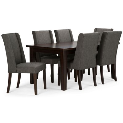 Sotherby 7 Piece Dining Set Chair Color: Slate Gray