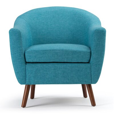 Roundstone Barrel Chair Upholstery: Aqua Blue