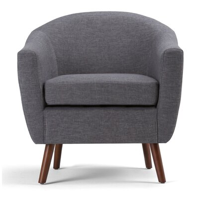 Roundstone Barrel Chair Upholstery: Slate Gray
