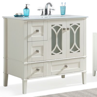 Paige 36 Right Offset Single Bathroom Vanity Set