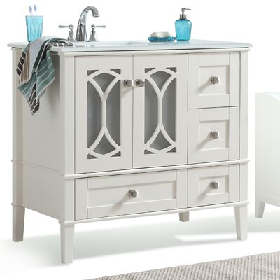 Paige 36 Left Offest Single Bathroom Vanity Set
