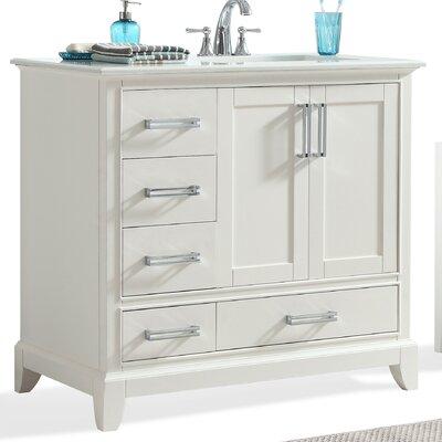 Elise 36 Right Offset Single Bathroom Vanity Set