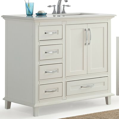Ariana 36 Right Offset Single Bathroom Vanity Set