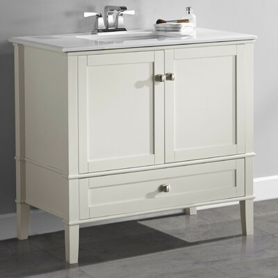 Chelsea 37 Single Bathroom Vanity Base Finish: Soft white