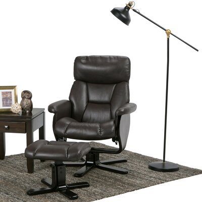 Whitman Manual Swivel Recliner With Ottoman