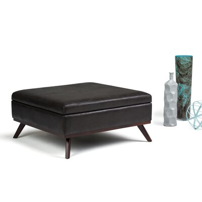 Owen Storage Ottoman Upholstery: Black