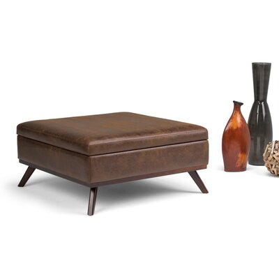 Owen Storage Ottoman Upholstery: Chestnut Brown
