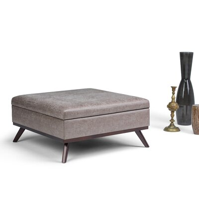 Owen Storage Ottoman Upholstery: Gray Taupe