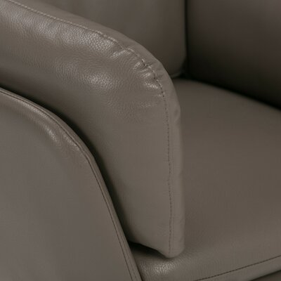 Jasper Air Leather Swivel Barrel Chair