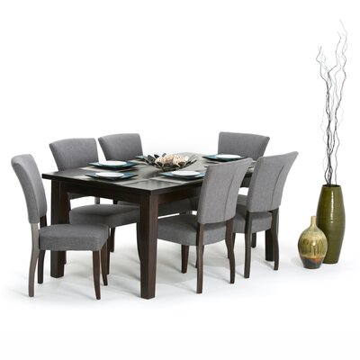 Joseph 7 Piece Dining Set Finish: Slate Gray