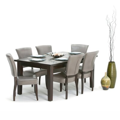 Joseph 7 Piece Dining Set Finish: Taupe