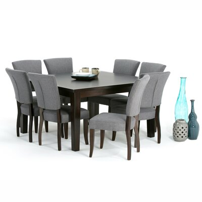 Joseph 9 Piece Dining Set Finish: Slate Gray