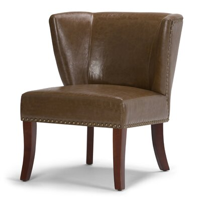 Jamestown Barrel Chair Upholstery: Saddle Brown