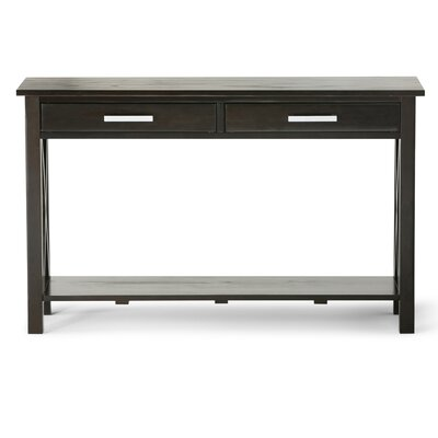 Kitchener Console Table Finish: Dark Walnut Brown