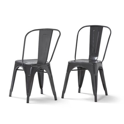 Fletcher Metal Dining Chair Color: Gray