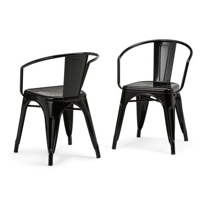 Larkin Metal Dining Chair Color: Black