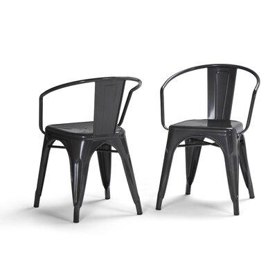 Larkin Metal Dining Chair Color: Gray