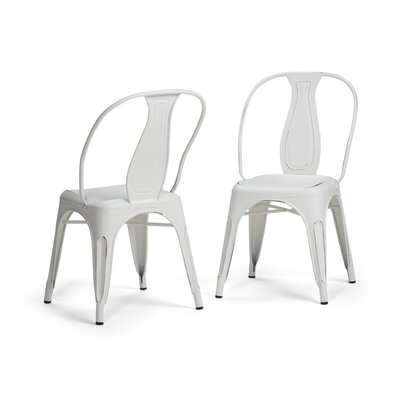 Merritt Metal Dining Chair Color: White
