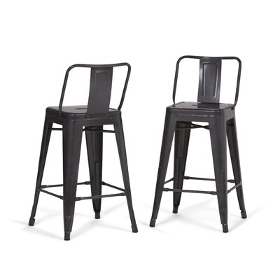 Rayne Metal 24 Bar Stool Color: Gray