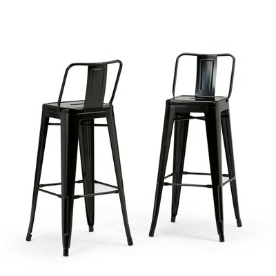 Rayne Metal 30 Bar Stool Color: Black